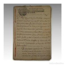 Manuscritos antiguos: NOMBRAMIENTO DE JUECES PARA LA GESTION DE BIENES DEL CARDENAL BELLUGA (1793) - CARDENAL BELLUGA. Lote 54241651