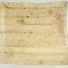 Manuscritos antiguos: SANT JULIÀ DE RAMIS AÑO 1567, CATALUÑA, DOCUMENTO EN PERGAMINO ANTIGUO. 28X31 CM.. Lote 71238863