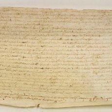 Manuscritos antiguos: CATALUÑA, DOCUMENTO ANTIGUO 19X34CM.. Lote 71239467