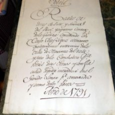 Manuscritos antiguos: POTRIL. DOCUMENTO AÑO 1791. VÍA DE ZAFRA, BADAJOZ. PAPEL FISCAL 1791. CONSEJO DE LA GUERRA. Lote 71923511