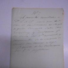 Manuscritos antiguos: MANUSCRITO: APUNTES REFERIDOS AL TESTAMENTO DEL MARQUES DE VALVERDE 1846.12 FOLIOS MANUSCRITOS. Lote 71933075