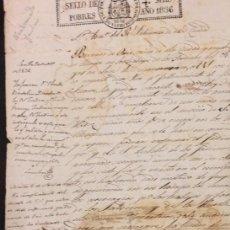 Manuscritos antiguos: ALCAZARES DE SEVILLA, PARA NOMBRAMIENTO DE JARDINERO AÑO DE 1836. CLAUDIO BOUTELOU. Lote 72048275