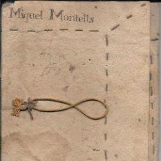 Manuscritos antiguos: LIBRETA MANUSCRITA 'EXPLICACIÓ DE COMPTAS' (EXPLICACIÓN DE CUENTAS) 1758. TARRAGONA. MIQUEL MONTELLS. Lote 72113387