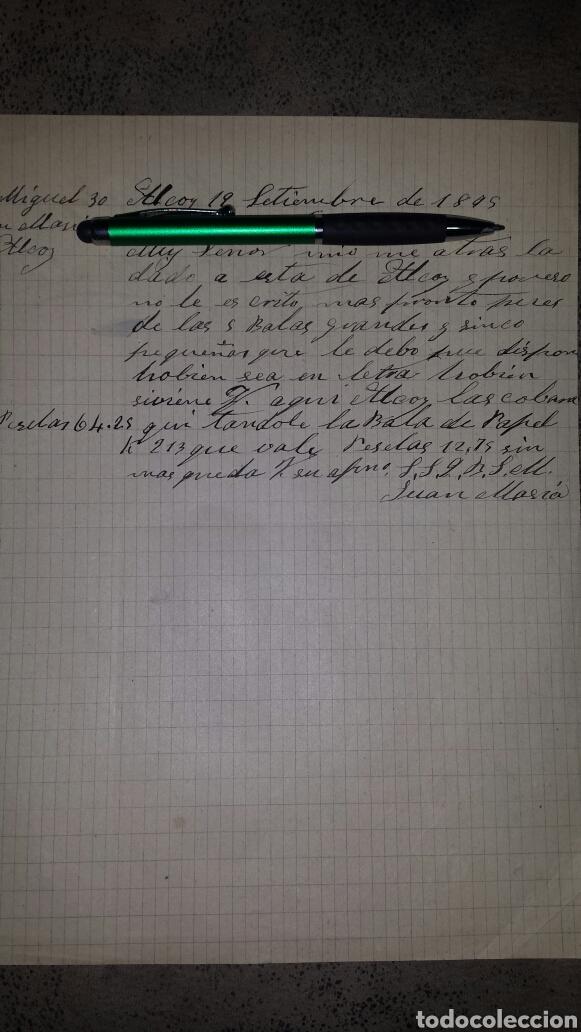 CARTA MANUSCRITA 1895- JUAN MASIÁ - ALCOY (Coleccionismo - Documentos - Manuscritos)