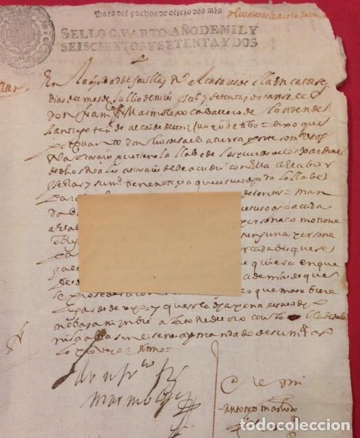 SEVILLA REALES ALCAZARES, 1672, SOBRE LOS JARDINES Y SUS LLAVES. (Coleccionismo - Documentos - Manuscritos)
