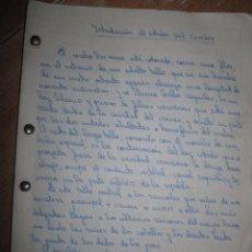 Manuscritos antiguos: MANUSCRITO INTRODUCCION AL ESTUDIO DEL CEREBRO CON IMAGENES. Lote 73020159