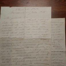 Manuscritos antiguos: JAUME BROSSA, CARTA MANUSCRITA I SIGNADA. BARCELONA 1916. Lote 73821067