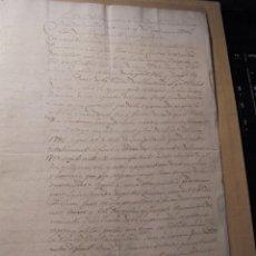 Manuscritos antiguos: MANUSCRITO ESCRITO EN CATALAN - VILA DE GRANOLLERS 17 MARS 1825 CONTRATO REGISTRADO EN LA ANTIGUA . Lote 73935723