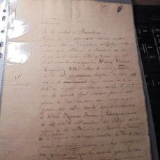 Manuscritos antiguos: BARCELONA - MANUSCRITO NUMERO 1862 - DOÑA DOLORES HUGUET Y VILLAR - VENDE PERPETUAMENTE A D. IGNACIO. Lote 74085047