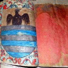 IMPORTANTE DOCUMENTO ILUMINADO. NOBLEZA SEVILLANA. FAMILIA PONCE DE LEÓN. 1686. VER FOTOS.