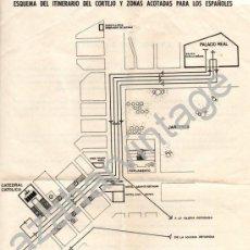 Manuscritos antiguos: ATENAS, 1962, PLANO PARA ASISTENTES ESPAÑOLES A LA BODA DEL REY DON JUAN CARLOS Y DOÑA SOFIA, . Lote 74571923