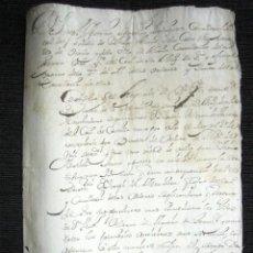 Manuscritos antiguos: AÑO 1706,MADRID. CERTIFICACIÓN FIRMADA DE D. JOSE ANTONIO SEVERINO RODRIGUEZ. ALCALDE OCAÑA Y ZURITA. Lote 74839151