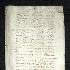 Manuscritos antiguos: AÑO 1628, MADRID. CARTA DE PAGO DE 648 REALES. . Lote 74839379