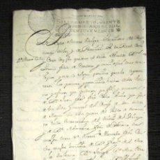 Manuscritos antiguos: AÑO 1727, MADRID. HIJUELA DE DOÑA MARÍA CACHO. MUY DETALLADA. 42 PÁGINAS. . Lote 74843895