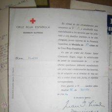 Manuscritos antiguos: D. RAMON GUILLEN TATO FUNDADOR CREADOR 1ª COMISION HOGUERAS DE ALICANTE 1924 1ª MEDALLA MANUSCRITO. Lote 43887829