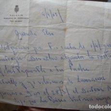 Manuscritos antiguos: CARTA PALACIO MEDINA SIDONIA SANLUCAR DE BARRAMEDA CUENTA ENFERMEDAD REINA VICTORIA FIRMA ALFONSO.69. Lote 75158643