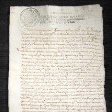 Manuscritos antiguos: AÑO 1801, RÍO FRIO (PONTEVEDRA). PLEITO POR LA POSESIÓN DEL AGUA PARA REGADÍO Y MOVIMIENTO DE MOLINO. Lote 75258971