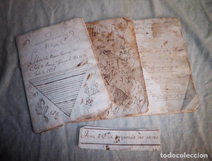 LIBRETAS ESCOLARES MANUSCRITAS AÑO 1828. (Coleccionismo - Documentos - Manuscritos)