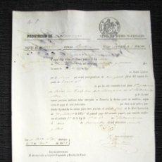 Manuscritos antiguos: AÑO 1873, TORDILLOS (SALAMANCA). VENTA DE BIENES NACIONALES PROCEDENTE DEL CLERO. . Lote 75305223