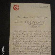 Manuscritos antiguos: DOCUMENTO JOSE GALLACH EDITOR- DIRIGIDO A MANUEL MARINELLO I SAMUNTÀ- AÑO 1913 -VER FOTOS - (V-8866). Lote 75357335