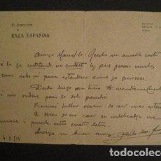 Manuscritos antiguos: DOCUMENTO RAZA ESPAÑOLA - DIRIGIDO A MANUEL MARINELLO I SAMUNTÀ- AÑO 1914 -VER FOTOS - (V-8867). Lote 75358251