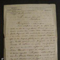 Manuscritos antiguos: DOCUMENTO PARLAMENTARIA CUBA - DIRIGIDO A MANUEL MARINELLO I SAMUNTÀ- AÑO 1923 -VER FOTOS - (V-8871). Lote 75363463