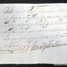 Manuscritos antiguos: AÑO 1731, GERENA (SEVILLA). RECIBO FIRMADO POR EL MARQUÉS DE VALLEHERMOSO. . Lote 75476503