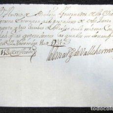 Manuscritos antiguos: AÑO 1731, GERENA (SEVILLA). RECIBO FIRMADO POR EL MARQUÉS DE VALLEHERMOSO. . Lote 75476823