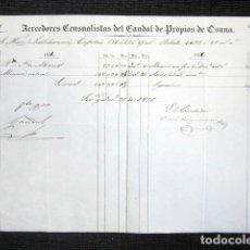 Manuscritos antiguos: AÑO 1856, OSUNA (SEVILLA). CENSO SOBRE LOS PROPIOS DE OSUNA. MARQUÉS DE VALLEHERMOSO.. Lote 75492039