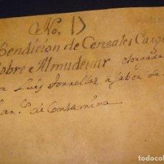 Manuscritos antiguos: VENTA CENSALES EN ALMUDÉVAR ARAGÓN. 1580. TAPAS PERGAMINO. SIGNO NOTARIAL JAIME MALO.. Lote 75532691
