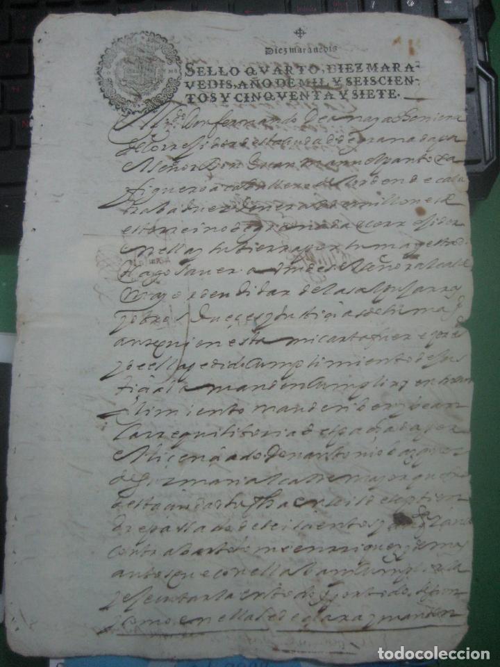 Manuscritos antiguos: MANUSCRITO DEL AÑO 1657 FISCAL 4º REY FELIPE IV LUJO GRANADA REQUISITORIA JUDICIAL - Foto 4 - 75685523