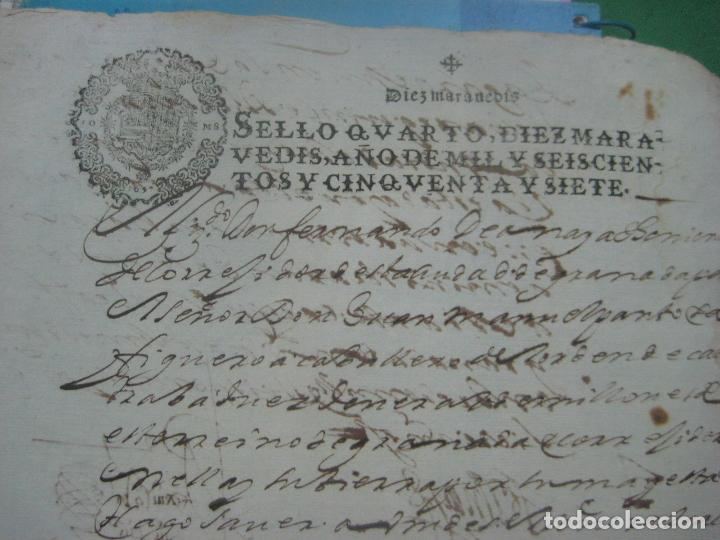 Manuscritos antiguos: MANUSCRITO DEL AÑO 1657 FISCAL 4º REY FELIPE IV LUJO GRANADA REQUISITORIA JUDICIAL - Foto 5 - 75685523
