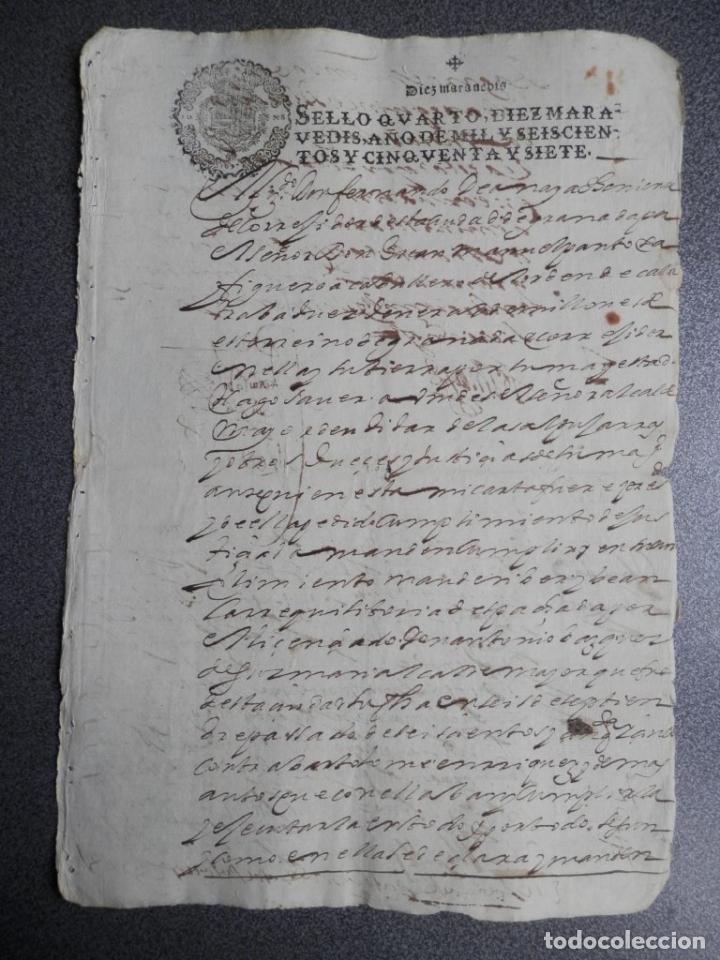 Manuscritos antiguos: MANUSCRITO DEL AÑO 1657 FISCAL 4º REY FELIPE IV LUJO GRANADA REQUISITORIA JUDICIAL - Foto 9 - 75685523