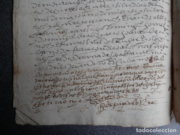 Manuscritos antiguos: MANUSCRITO DEL AÑO 1628 SANTA MARÍA DE VILLARIÑO A CORUÑA DE LA VENTA DE UNA LEIRA - Foto 3 - 75688995
