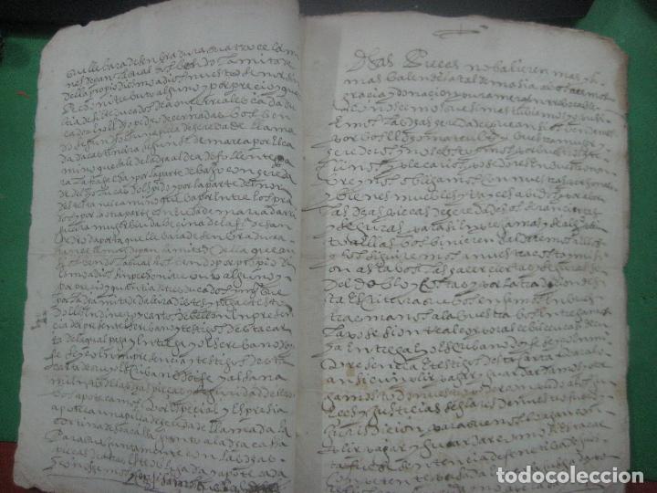 Manuscritos antiguos: MANUSCRITO DEL AÑO 1628 SANTA MARÍA DE VILLARIÑO A CORUÑA DE LA VENTA DE UNA LEIRA - Foto 4 - 75688995