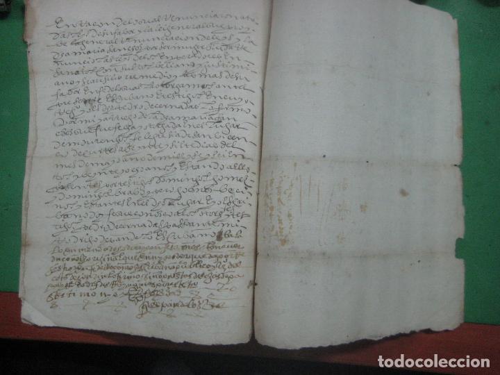 Manuscritos antiguos: MANUSCRITO DEL AÑO 1628 SANTA MARÍA DE VILLARIÑO A CORUÑA DE LA VENTA DE UNA LEIRA - Foto 5 - 75688995