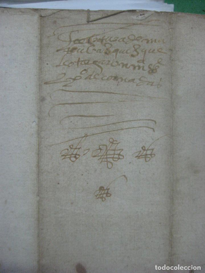 Manuscritos antiguos: MANUSCRITO DEL AÑO 1628 SANTA MARÍA DE VILLARIÑO A CORUÑA DE LA VENTA DE UNA LEIRA - Foto 7 - 75688995