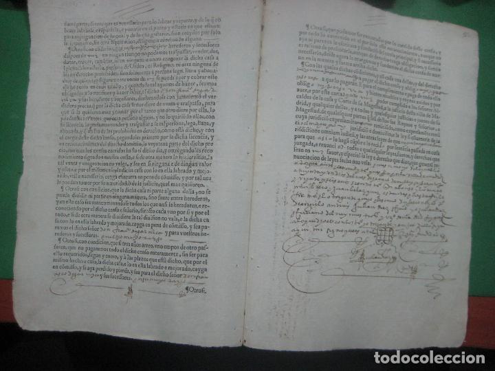 Manuscritos antiguos: MANUSCRITO DEL AÑO 1626 MADRID RECONOCIMIENTO CENSO BONITO DE CASA EN CALLE REINA 92 - Foto 4 - 75691255