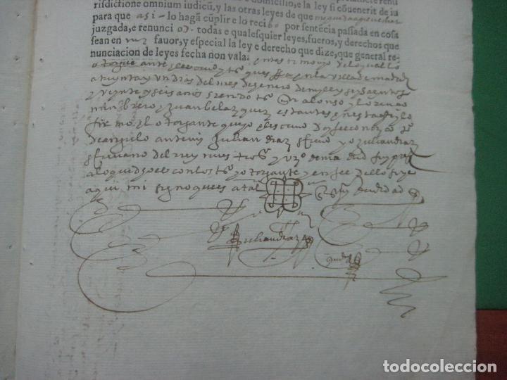 Manuscritos antiguos: MANUSCRITO DEL AÑO 1626 MADRID RECONOCIMIENTO CENSO BONITO DE CASA EN CALLE REINA 92 - Foto 8 - 75691255