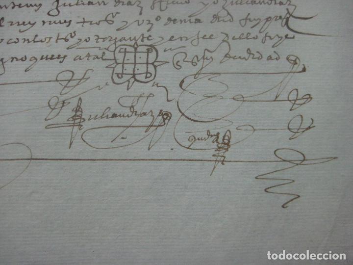 Manuscritos antiguos: MANUSCRITO DEL AÑO 1626 MADRID RECONOCIMIENTO CENSO BONITO DE CASA EN CALLE REINA 92 - Foto 9 - 75691255