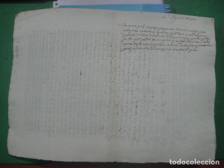Manuscritos antiguos: MANUSCRITO DEL AÑO 1626 MADRID RECONOCIMIENTO CENSO BONITO DE CASA EN CALLE REINA 92 - Foto 10 - 75691255