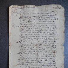 Manuscritos antiguos: MANUSCRITO DEL AÑO 1621 GRANADA BONITA LETRA IZNALLOZ DIFÍCIL LECTURA. Lote 75692215