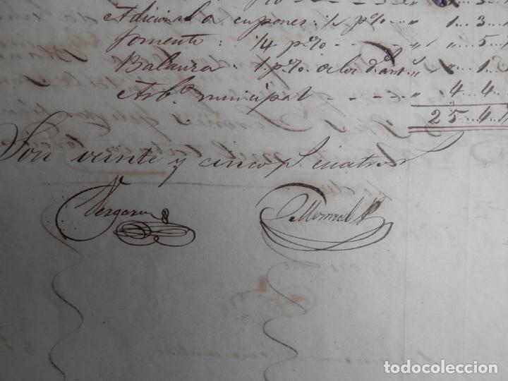 Manuscritos antiguos: REAL ADUANA DE CUBA MANUSCRITO DEL AÑO 1846 TRANSPORTE DE TABACO BONITO DOCUMENTO FIRMADO - Foto 3 - 75713159
