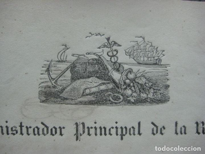 Manuscritos antiguos: REAL ADUANA DE CUBA MANUSCRITO DEL AÑO 1846 TRANSPORTE DE TABACO BONITO DOCUMENTO FIRMADO - Foto 5 - 75713159