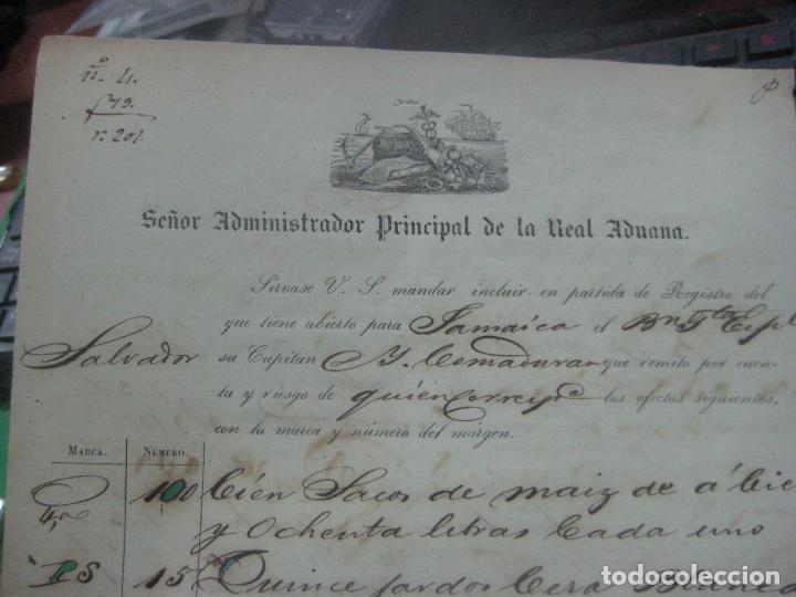 Manuscritos antiguos: REAL ADUANA DE CUBA MANUSCRITO DEL AÑO 1846 TRANSPORTE DE TABACO BONITO DOCUMENTO FIRMADO - Foto 7 - 75713159