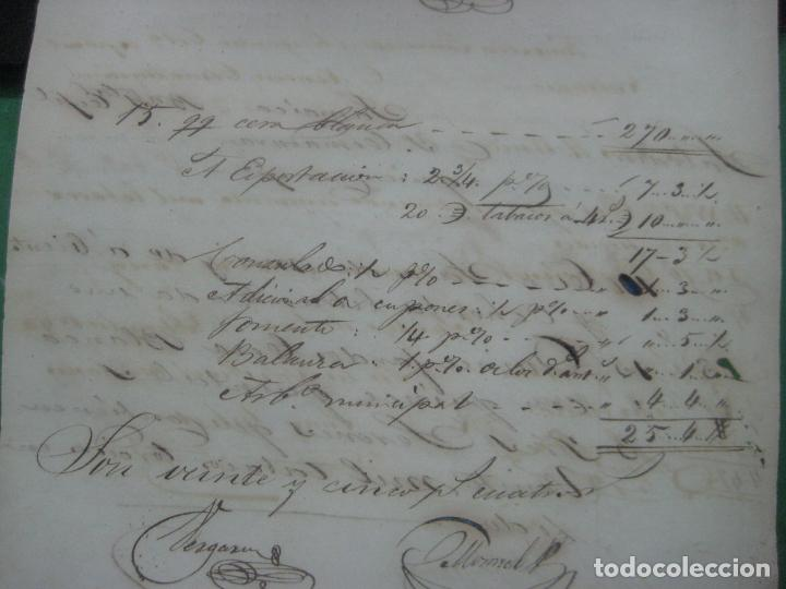 Manuscritos antiguos: REAL ADUANA DE CUBA MANUSCRITO DEL AÑO 1846 TRANSPORTE DE TABACO BONITO DOCUMENTO FIRMADO - Foto 11 - 75713159