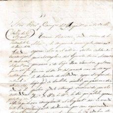 Manuscritos antiguos: 1853 PIEDRAHITA (AVILA). 2 SELLO FISCAL OFICIO EN SECO DE 4 MRVS. DOCUMENTO TIMBRADO PAPEL SELLADO. Lote 75727975