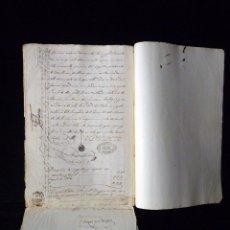 Manuscritos antiguos: TIMBROLOGÍA FISCAL 1860 SELLO ILUSTRES 60 REALES (2 SELL) + SELLO 4º 40 MARAVEDIS (2 SELL) VALENCIA. Lote 75826043