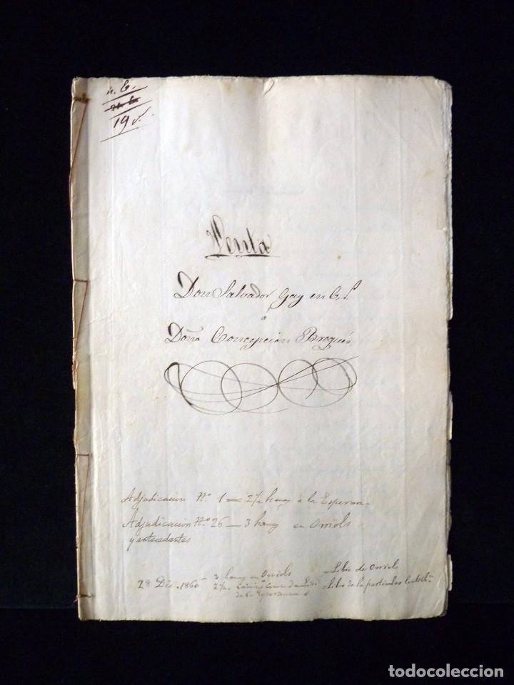 Manuscritos antiguos: TIMBROLOGÍA FISCAL 1860 SELLO ILUSTRES 60 REALES (2 SELL) + SELLO 4º 40 MARAVEDIS (2 SELL) VALENCIA - Foto 4 - 75826043