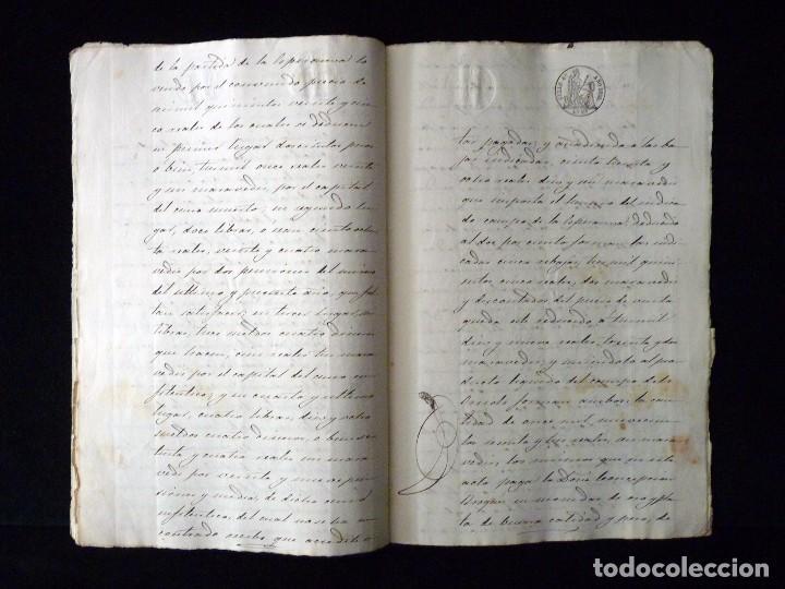 Manuscritos antiguos: TIMBROLOGÍA FISCAL 1860 SELLO ILUSTRES 60 REALES (2 SELL) + SELLO 4º 40 MARAVEDIS (2 SELL) VALENCIA - Foto 7 - 75826043